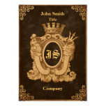 Grunge Heraldry Monogram Pack Of Chubby Business Cards