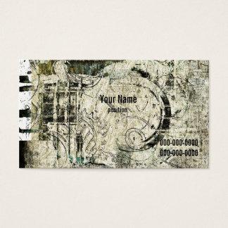 grunge industrial business card