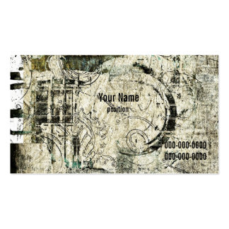 grunge industrial business card template