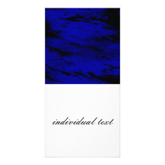 Grunge INKY BLUE Picture Card