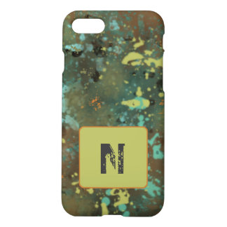 Grunge iPhone 7 Case Custom Initial