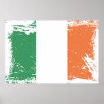 Grunge Ireland Flag Print
