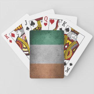 Grunge Irish Flag Playing Cards