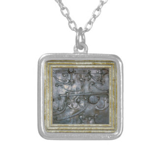 Grunge Iron Heavy Metal Silver Plated Necklace