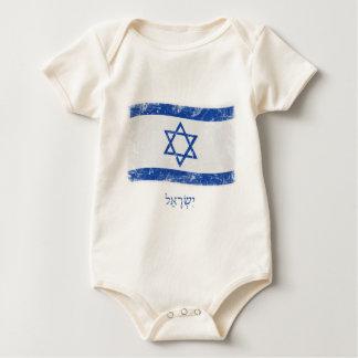 Grunge Israel Flag Baby Bodysuit