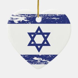 Grunge Israel Flag Christmas Ornament
