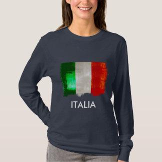 Grunge Italian flag of Italy vintage retro style T-Shirt