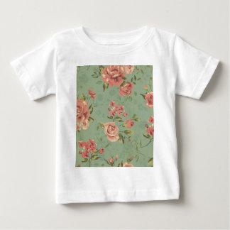 Grunge,jade,coral,floral,vintage,shabby chic,roses tshirt