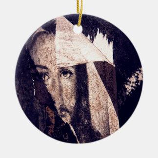 Grunge Jesus  graffiti image Christmas Ornament
