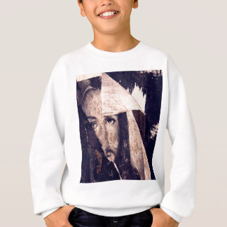 Grunge Jesus  graffiti image Sweatshirt