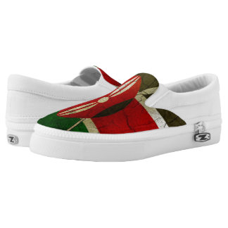 Grunge Kenya Flag Slip-On Shoes