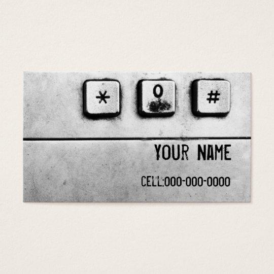 grunge keypad business card