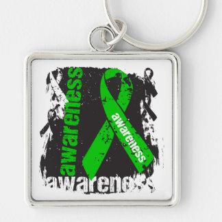Grunge Kidney Cancer Awareness v2 Key Chain
