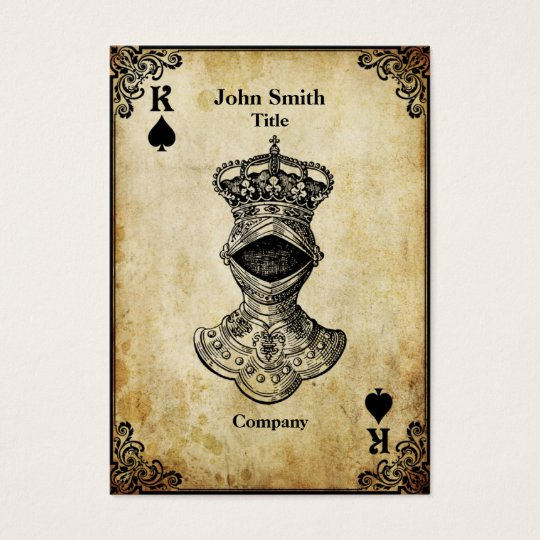 Grunge King of Spades Business Card