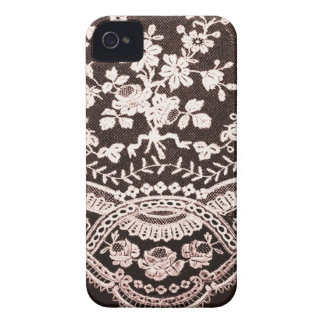Grunge Lace Fabric iPhone 4 Cases