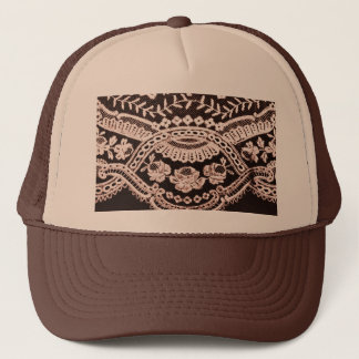 Grunge Lace Fabric Trucker Hat