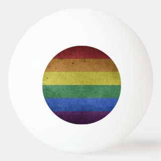 Grunge LGBT Rainbow Flag Ping Pong Ball