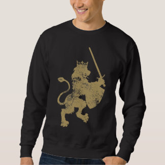 Grunge Lion King Men's Dark Sweatshirt