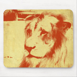 Grunge Lion Mouse Pad