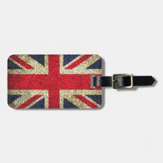 Grunge Look Union Jack Flag Luggage Tags