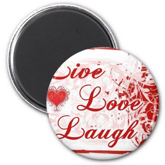 grunge love 6 cm round magnet