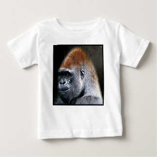 Grunge Lowland Gorilla Close-up Face Baby T-Shirt