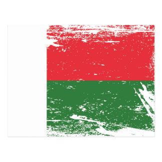 Grunge Madagascar Flag Postcard