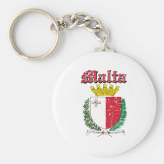 Grunge Maltese coat of arms designs Key Ring
