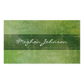 Grunge Marble Green Trendy Business Card