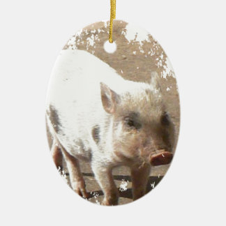 grunge mask, minipig christmas ornament