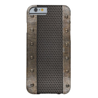 Grunge metal background barely there iPhone 6 case