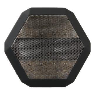 Grunge metal background black bluetooth speaker
