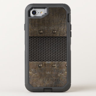 Grunge metal background OtterBox defender iPhone 8/7 case