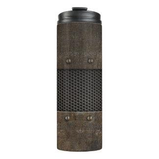 Grunge metal background thermal tumbler