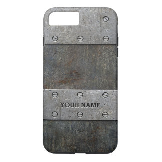 Grunge Metal Look Tough iPhone 7 Plus Case