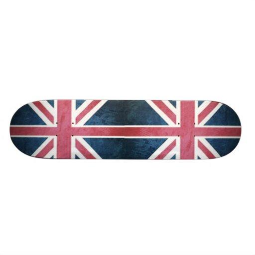 grunge modern London fashion UK British flag Custom Skateboard