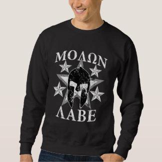 GRUNGE Molon Labe 5 STARS Spartan Helmet Pullover Sweatshirts