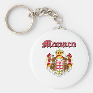 Grunge Monaco coat of arms designs Key Ring