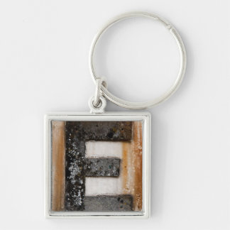Grunge monogram E Keychain