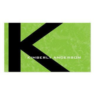 Grunge Monogram Template Business Cards