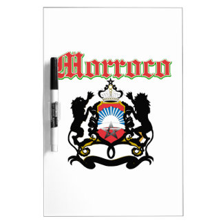 Grunge Morocco coat of arms designs Dry-Erase Whiteboard