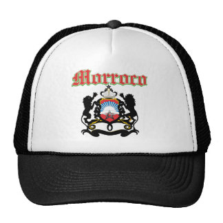 Grunge Morocco coat of arms designs Mesh Hat