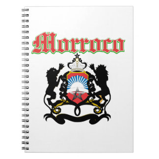 Grunge Morocco coat of arms designs Notebooks