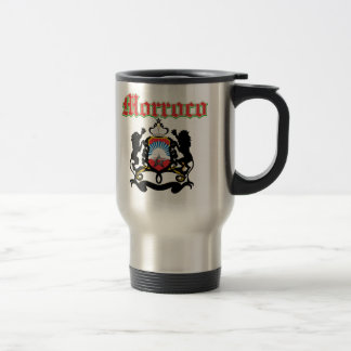 Grunge Morocco coat of arms designs Stainless Steel Travel Mug