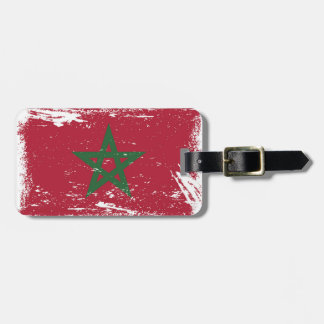 Grunge Morocco Flag Tag For Bags