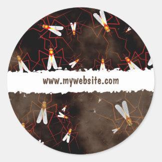 Grunge Mosquitoes Classic Round Sticker