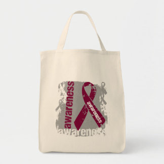 Grunge Multiple Myeloma Awareness Canvas Bags