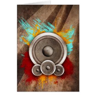 Grunge Music Greeting Card