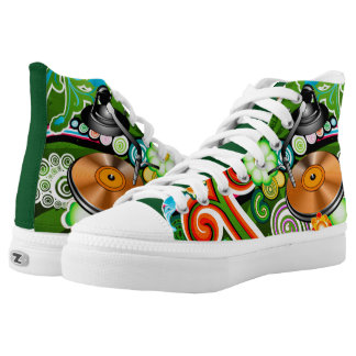 Grunge Music High Tops Printed Shoes