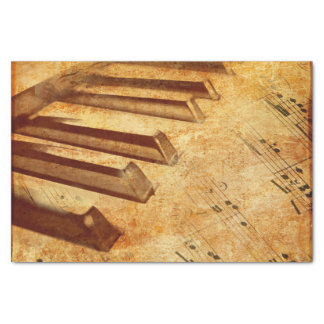 Grunge Music Sheet Piano Keys